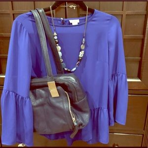 Blue Bundle - 2 tops, necklace, & purse